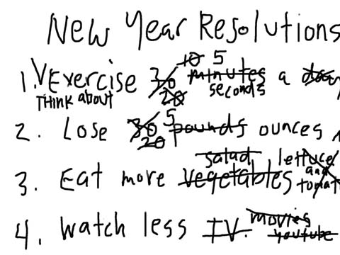 Broken any new year's resolutions yet?