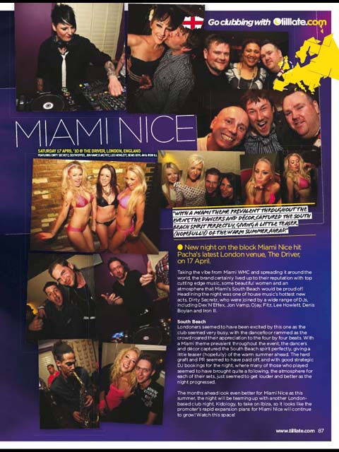 Tilllate Mag June 2010 Issue 254: Miami Nice Launch