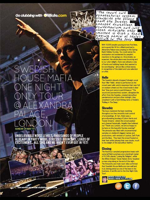 Tilllate Mag Issue 277: Swedish House Mafia @ Alexandria Palace